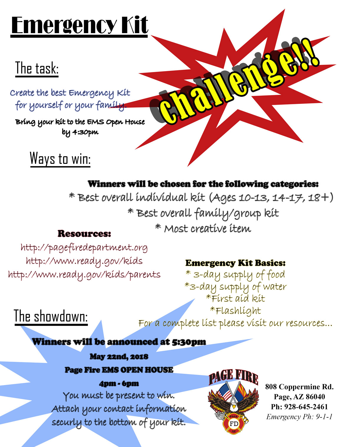 Emergency Kit Challenge