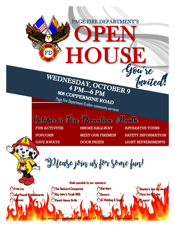 2019 October Open House Flyer